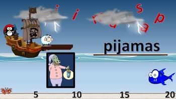 ¡Los Piratas Pingüinos!  Spanish PowerPoint Games to learn LA ROPA