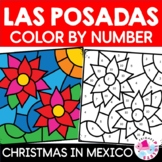 Las Posadas Color by Number in Spanish | Christmas in Mexi