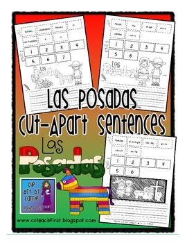 Las Posadas Cut Apart Sentences