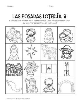 Las Posadas Lotería: Mexican Bingo in Spanish! (English Included)