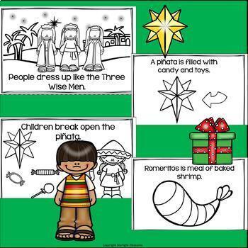 Las Posadas Mini Book for Early Readers - Christmas Activities