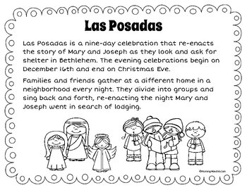 la posada coloring pages | Las Posadas Minibook by MommyMaestra | Teachers Pay Teachers