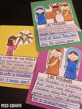 Las Posadas Writing Activities (No Prep Las Posadas Crafts)