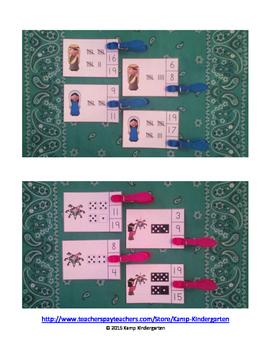 Las Posadas Numerals to 20 Clip Cards