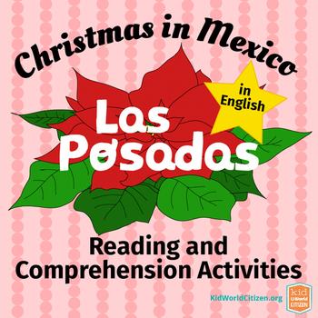 Las Posadas Reading & Comprehension Activities in English ~ Christmas in Mexico