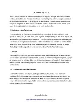 Las Posadas Readings & Activities for Grades 7-12