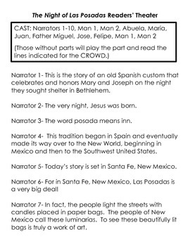 Las Posadas - The Night of Christ's Birth Activity Packet