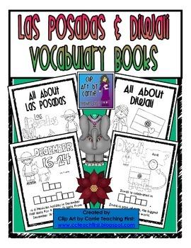 Las Posadas and Diwali Vocabulary Books