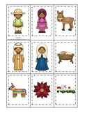 Las Posadas themed Memory Matching Cards preschool learnin