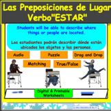 """Las Preposiciones y """"Estar"""" (Prepositions) Digital and Printable Worksheets"""