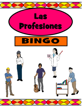 Las Profesiones Bingo – Jobs Vocabulary in Spanish