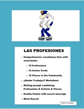 Las Profesiones-Spanish Professions- What they Do and Wher