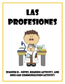 Las Profesiones: Spanish Professions Vocabulary and Readin