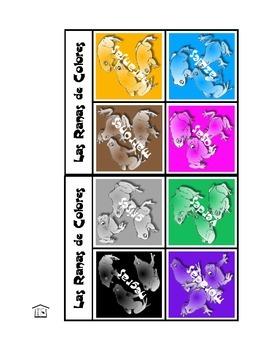 Las Ranas de Colores: Spanish Color Adjectives game