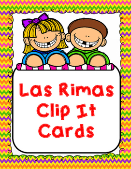 Rimas: Spanish Rhymes Clip It Cards