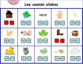 Las Silabas-SMART Board Activity