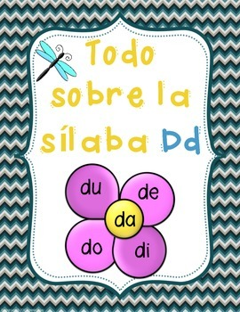 Silabas da de di do du - letra Dd- consonante Dd