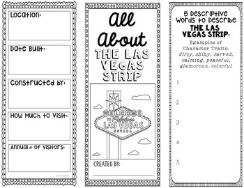 Las Vegas Strip Research Project Brochure Template, Geography, History