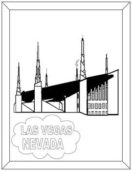 Las Vegas Temple-black and white