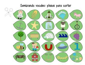 Las Vocales: 10 CENTROS DE APRENDIZAJE (Literacy Centers in Spanish)