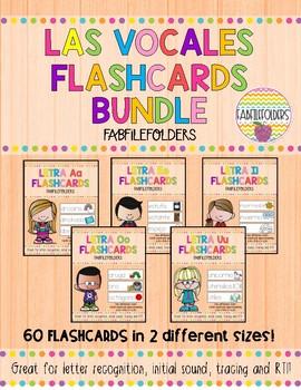 Las Vocales-Flashcards Bundle