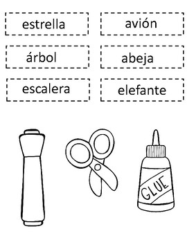 Las Vocales Interactive Notebook:  Spanish Alphabet Sorting Activities