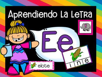 Las Vocales - LETRA E