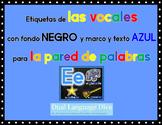 Las Vocales-Marco AZUL con fondo NEGRO