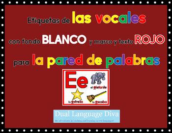 Las Vocales-Marco ROJO con fondo BLANCO