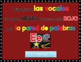 Las Vocales-Marco ROJO con fondo NEGRO