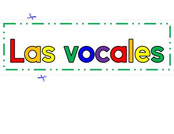 Las Vocales-Marco VERDE con fondo BLANCO