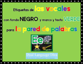 Las Vocales-Marco VERDE con fondo NEGRO