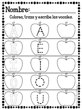 Las Vocales Spanish Literacy Activities