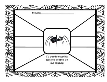 Las arañas Graphic Organizer FREEBIES
