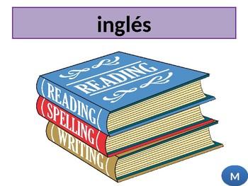 Las asignaturas / School subjects