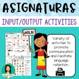 Las asignaturas / Spanish Class Subjects