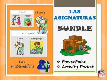 Las asignaturas / Spanish Class Subjects Bundle