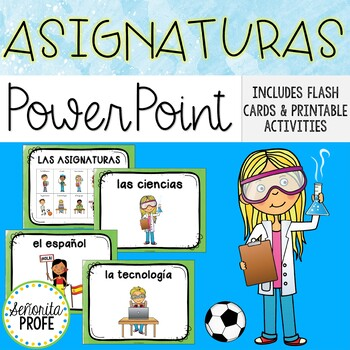 Las asignaturas/Spanish School Subjects PowerPoint