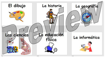 Las asignaturas - learning the school subjects in Spanish