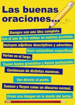 Las buenas oraciones (Spanish class)