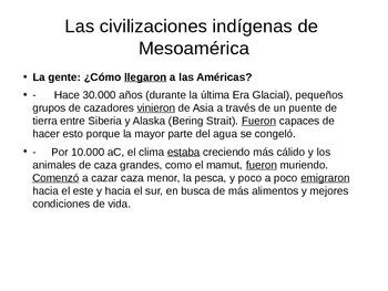 Las civilizaciones indigenas Maya ppt