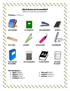 Las clases - Classroom vocabulary
