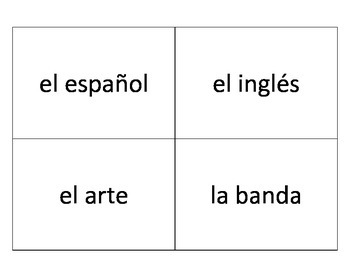 Las clases - large flashcards