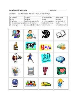 Las clases / los sujetos - Activities