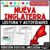 New England Colonies Spanish Reading Comprehension   Colonias Nueva Inglaterra