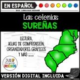 Southern Colonies Spanish Reading Comprehension   Las colonias del Sur   Digital