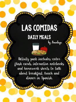 Las comidas ~ Meals lesson: breakfast, lunch & dinner Interactive NB