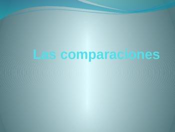 Las comparaciones / Comparisons