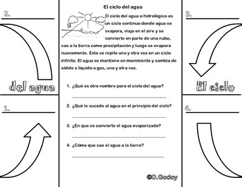 Water Cycle Foldable in Spanish