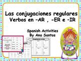 Las conjugaciones  regulares- Verbos en -AR, -ER e -IR